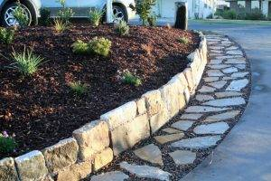 Garden Paving - Natural Stone Crazy Pavers with Pebbles