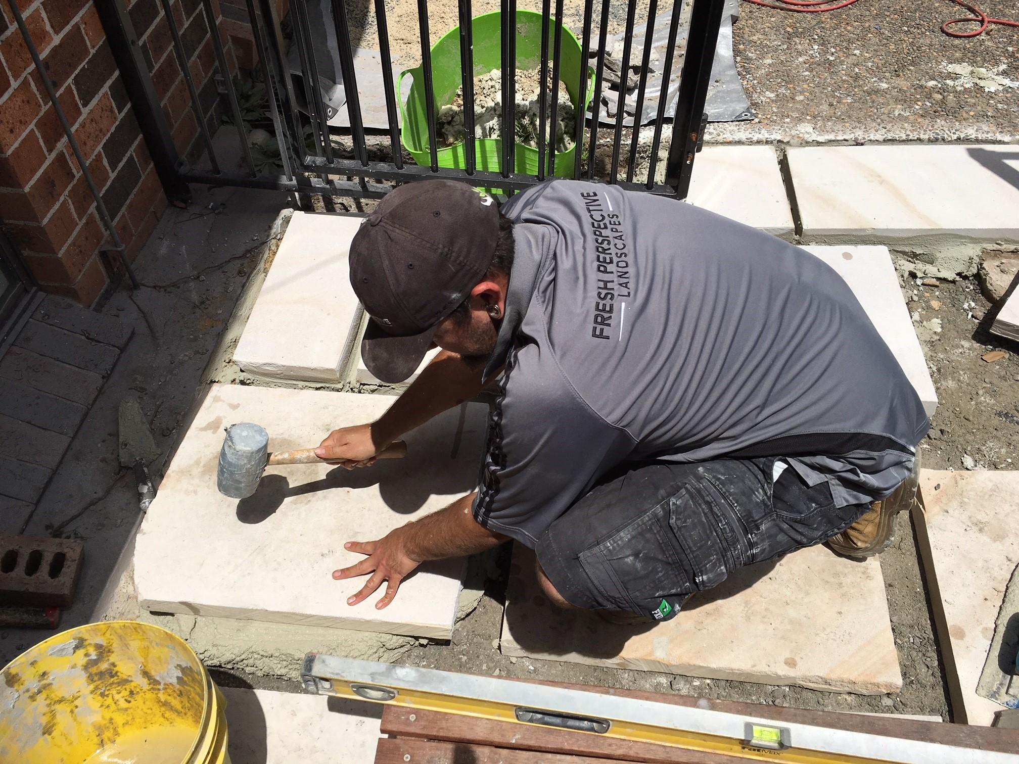 Sandstone Paver Construction