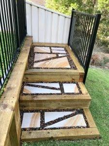 Garden Paving - Sandstone Pavers - Crazy Pave Pattern