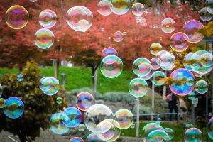 outdoor play ideas - bubbles