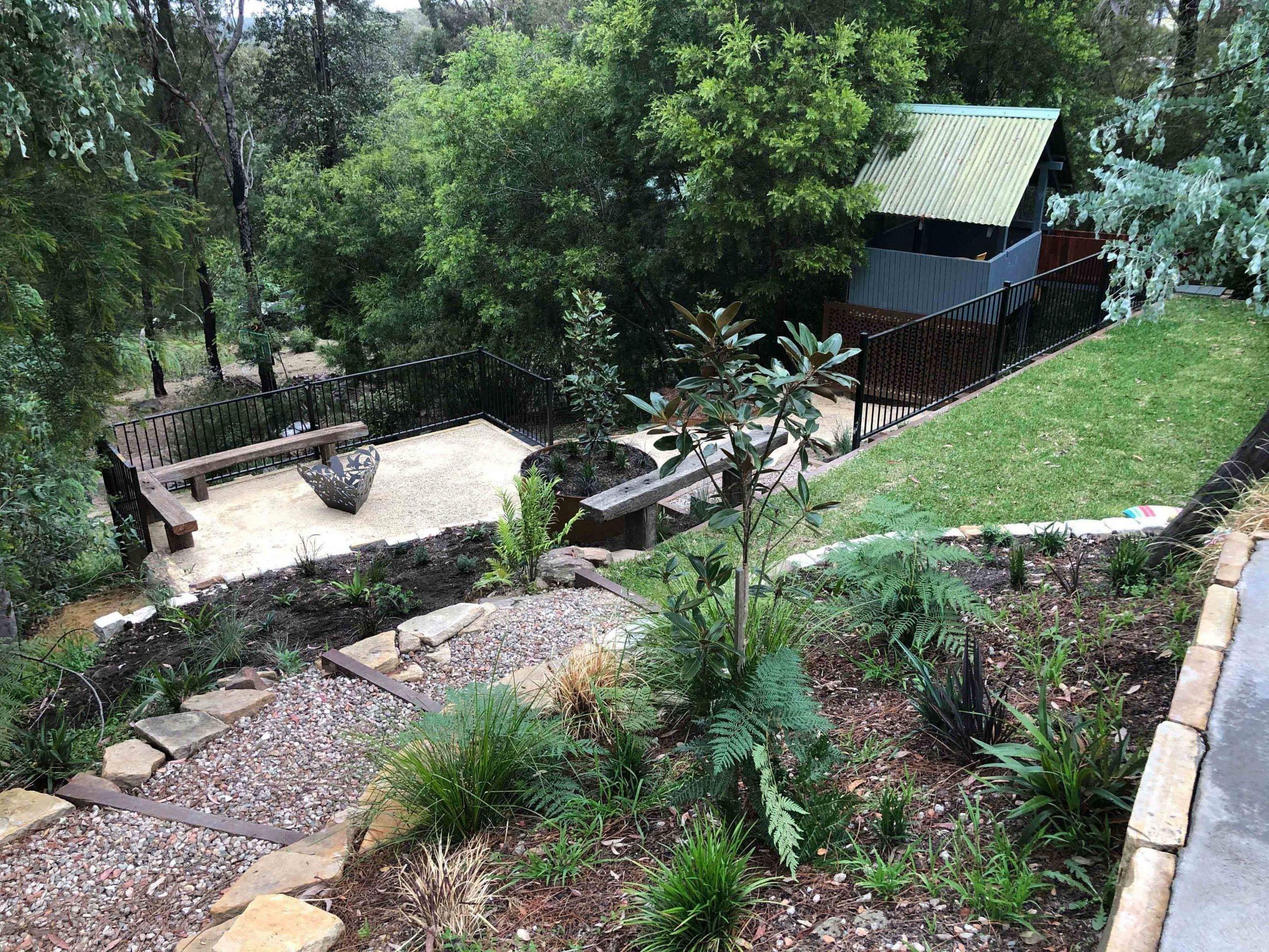 Sloping block garden ideas