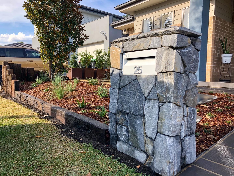 Landscape construction blue mountains stone work