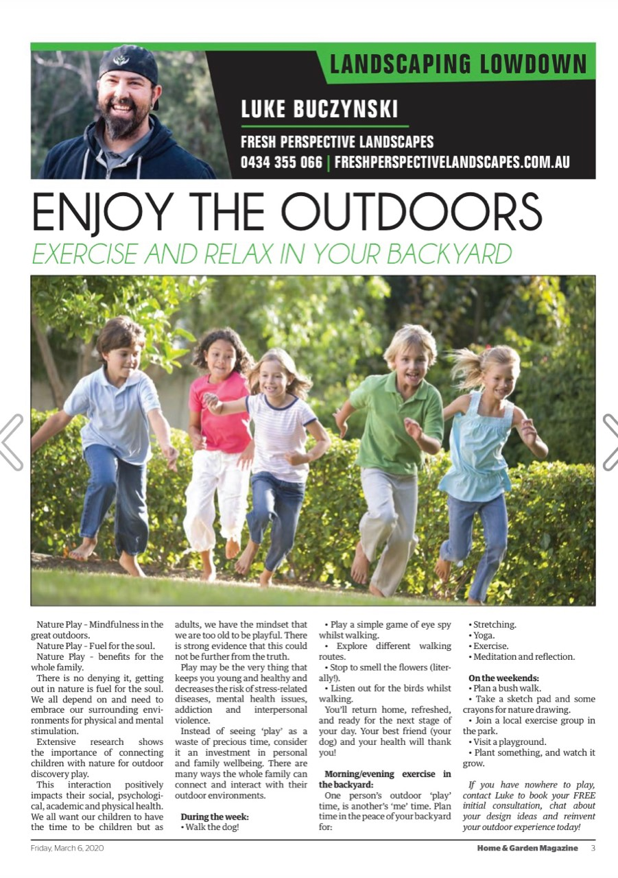 Excercise and Relax in your Backyard