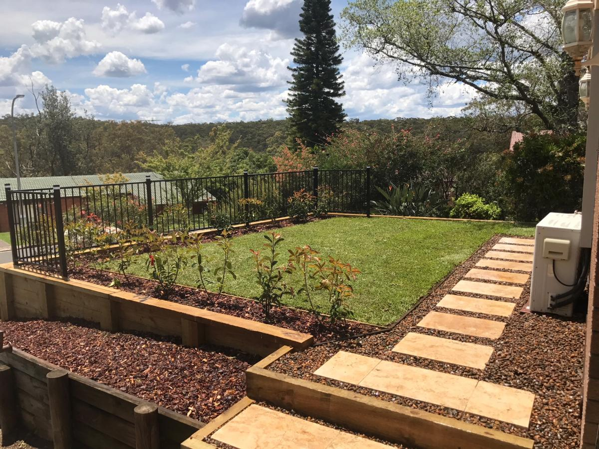 Winmalee project - retaining walls paving stairs - Fresh Perspective ...