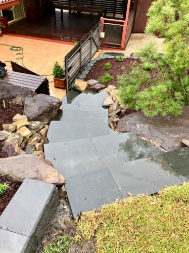 Bluestone paver stairs