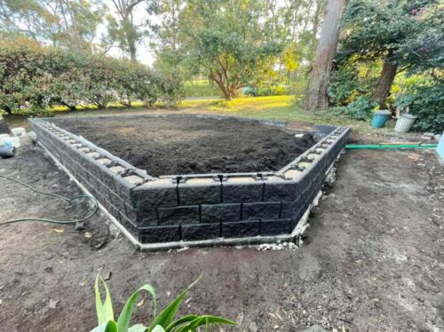 SPRINGWOOD garden makeover  raised block planter box