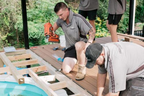 Warrimoo Pool Deck Construction