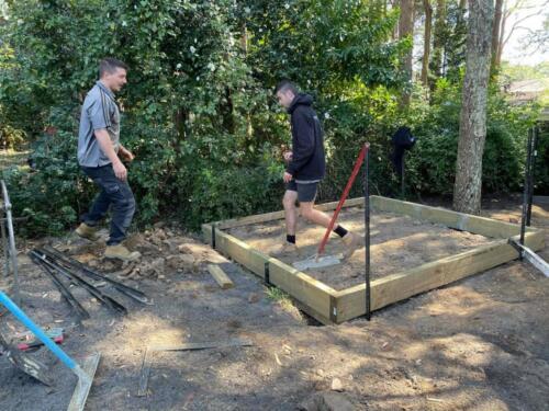 SPRINGWOOD garden makeover  shed slab