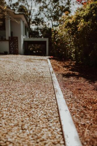 SPRINGWOOD garden makeover  driveway makeover and treated pine edging