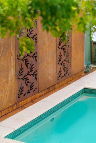 Cortone Steel Panel pool fence