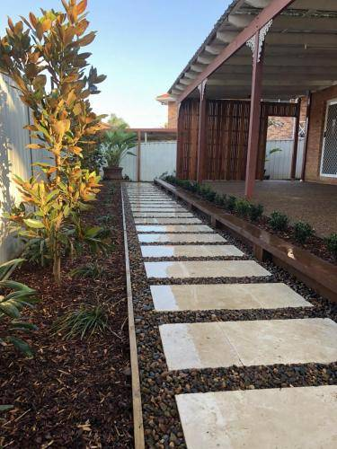 Abbotsbury fresh perspective landscapes structural landscaping blue mountains landscape construction timber screen paving excavation pots retaining wall planting 15