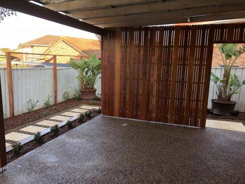 Abbotsbury fresh perspective landscapes structural landscaping blue mountains landscape construction timber screen paving excavation pots retaining wall planting 16