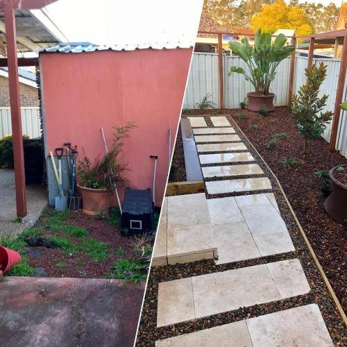 Abbotsbury fresh perspective landscapes structural landscaping blue mountains landscape construction timber screen paving excavation pots retaining wall planting 2 small