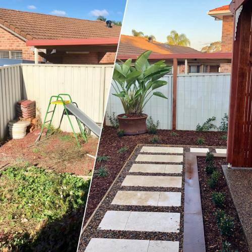 Abbotsbury fresh perspective landscapes structural landscaping blue mountains landscape construction timber screen paving excavation pots retaining wall planting 3 small