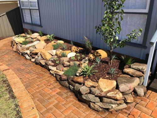 Blaxland planting rockery garden transformation landscape construction blue mountains structural fresh perspective landscapes Winmalee 11 small