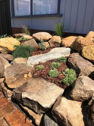 Blaxland planting rockery garden transformation landscape construction blue mountains structural fresh perspective landscapes Winmalee 8 small