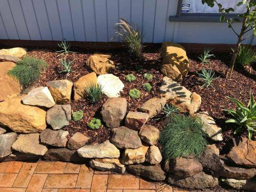 Blaxland planting rockery garden transformation landscape construction blue mountains structural fresh perspective landscapes Winmalee 9 small