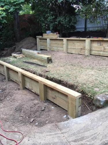 Blaxland steps retaining wall timber stairs landscape construction blue mountains structural fresh perspective landscapes Winmalee 8