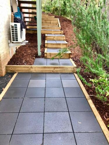 Boxed step pavers