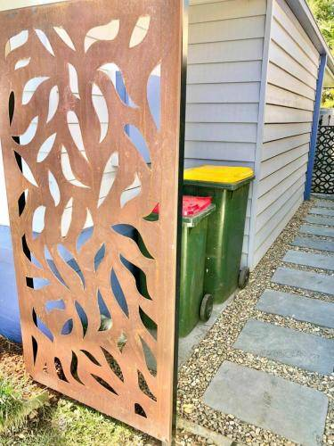 Corten Steel Screen for Bin Area