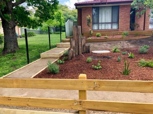 Deco-granite garden path