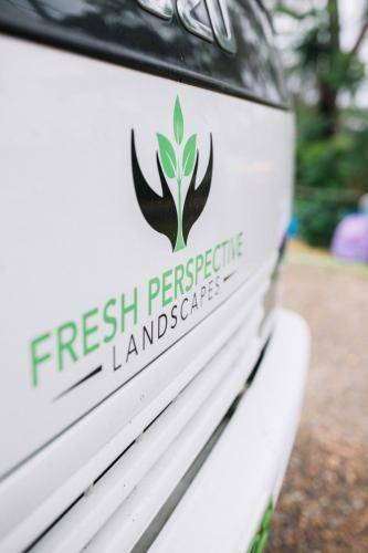 Fresh Perspective Landscapes logo on truck