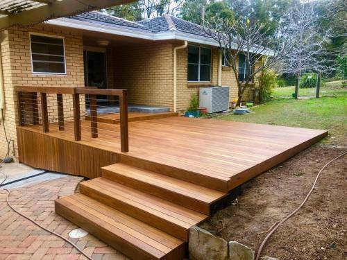 Fresh Perspective Landscapes Landscaping Blue Mountains Penrith Hawkesbury Structural Decking Timber Bench Seat Bar Quality Insured Licenced 1