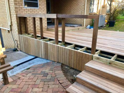Fresh Perspective Landscapes Landscaping Blue Mountains Penrith Hawkesbury Structural Decking Timber Bench Seat Bar Quality Insured Licenced 12