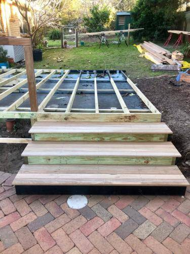 Fresh Perspective Landscapes Landscaping Blue Mountains Penrith Hawkesbury Structural Decking Timber Bench Seat Bar Quality Insured Licenced 13