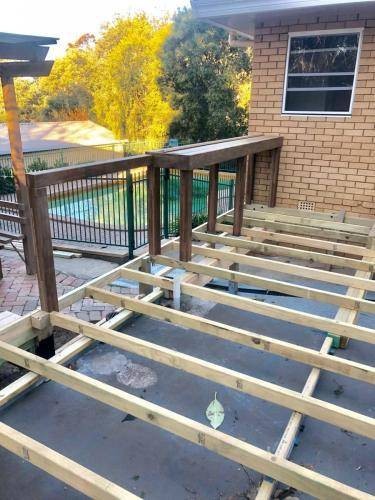 Fresh Perspective Landscapes Landscaping Blue Mountains Penrith Hawkesbury Structural Decking Timber Bench Seat Bar Quality Insured Licenced 14