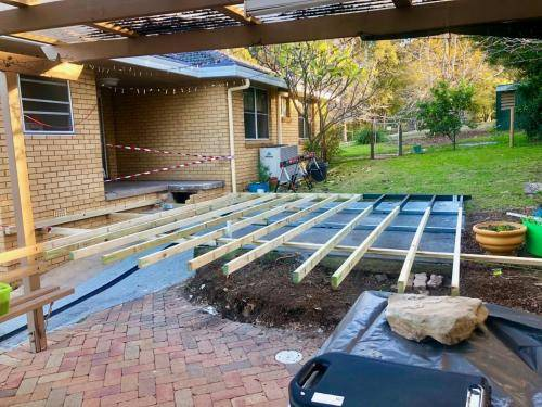 Fresh Perspective Landscapes Landscaping Blue Mountains Penrith Hawkesbury Structural Decking Timber Bench Seat Bar Quality Insured Licenced 16