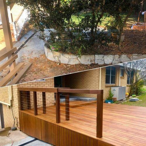 Fresh Perspective Landscapes Landscaping Blue Mountains Penrith Hawkesbury Structural Decking Timber Bench Seat Bar Quality Insured Licenced 18
