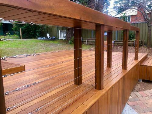 Fresh Perspective Landscapes Landscaping Blue Mountains Penrith Hawkesbury Structural Decking Timber Bench Seat Bar Quality Insured Licenced 2