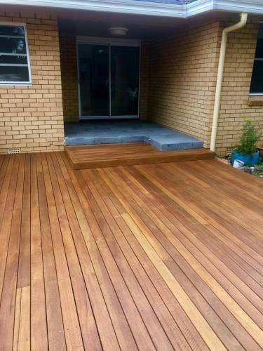 Fresh Perspective Landscapes Landscaping Blue Mountains Penrith Hawkesbury Structural Decking Timber Bench Seat Bar Quality Insured Licenced 4