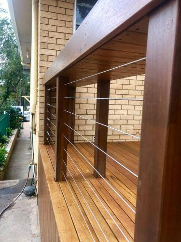 Fresh Perspective Landscapes Landscaping Blue Mountains Penrith Hawkesbury Structural Decking Timber Bench Seat Bar Quality Insured Licenced 6