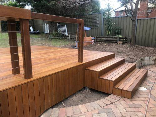 Fresh Perspective Landscapes Landscaping Blue Mountains Penrith Hawkesbury Structural Decking Timber Bench Seat Bar Quality Insured Licenced 8