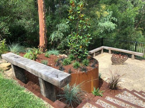 Fresh Perspective Landscapes Winmalee Blue Mountains landscape construction sloping block retaining paving timber stone wall terrace garden design 14
