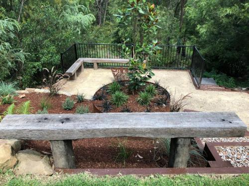 Fresh Perspective Landscapes Winmalee Blue Mountains landscape construction sloping block retaining paving timber stone wall terrace garden design 15