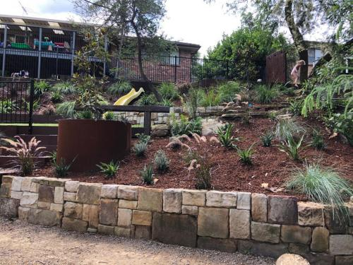 Fresh Perspective Landscapes Winmalee Blue Mountains landscape construction sloping block retaining paving timber stone wall terrace garden design 17