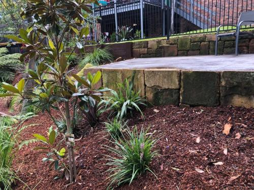 Fresh Perspective Landscapes Winmalee Blue Mountains landscape construction sloping block retaining paving timber stone wall terrace garden design 19