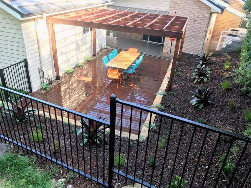 Glenbrook fresh perspective landscapes structural landscaping blue mountains landscape construction pergola timber planting 5