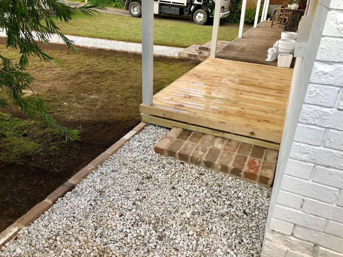 Gravel Pathway Front Entrance