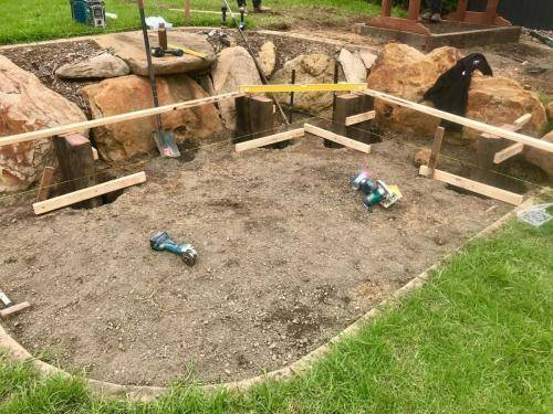 Road Base for fire pit