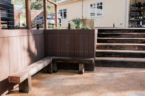 Railway Sleeper Corner Garden Seating