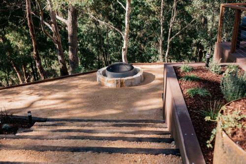 Outdoor Fire Pit in native bush garden