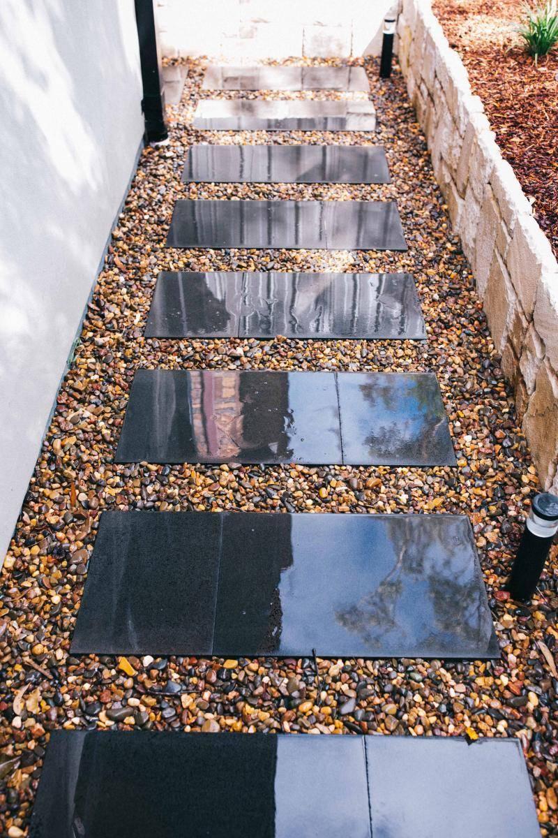 Path with bluestone stepping stones