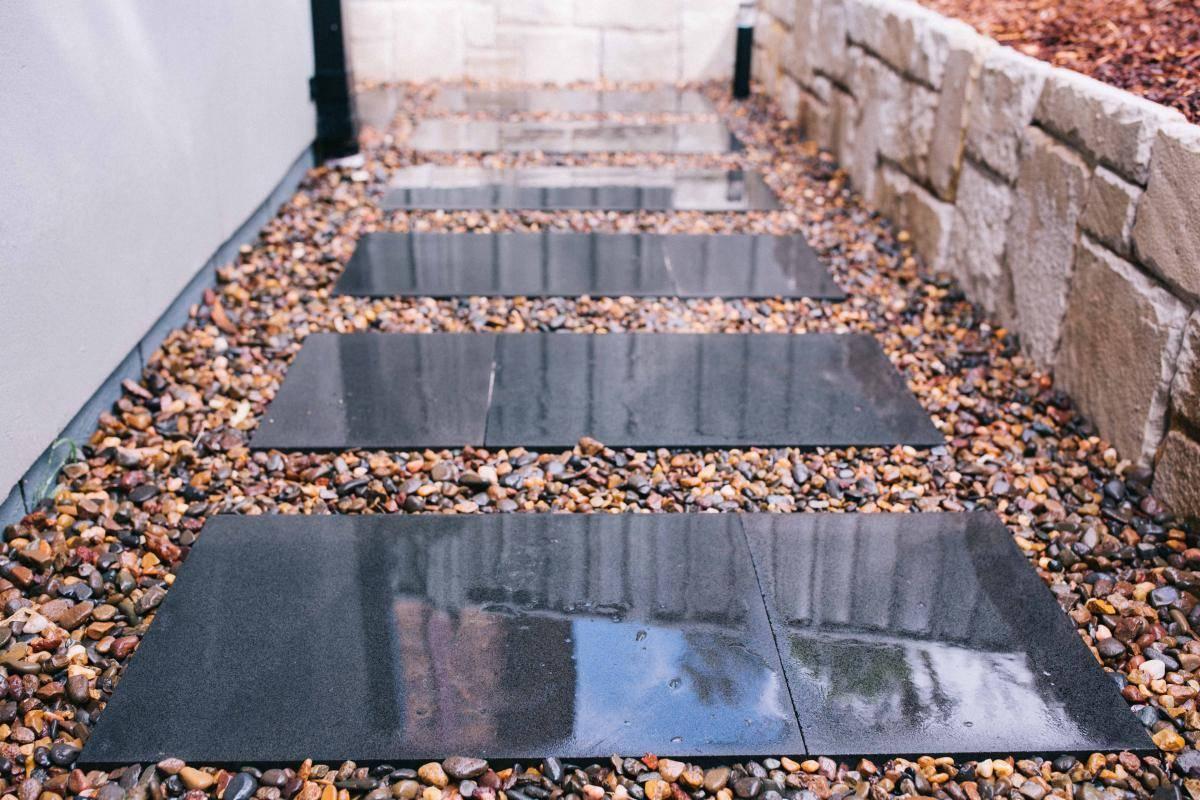 Bluestone stepping stones