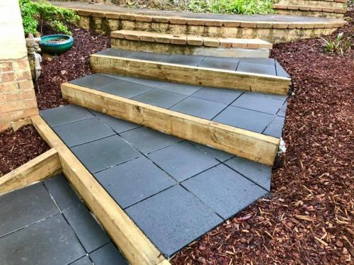 Sloped block stair access