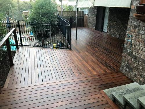 Springwood fresh perspective landscapes structural landscaping blue mountains landscape construction timber deck merbau travertine gate bamboo screen stairs19