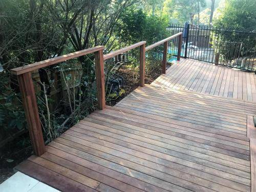 Springwood fresh perspective landscapes structural landscaping blue mountains landscape construction timber deck merbau travertine gate bamboo screen stairs8